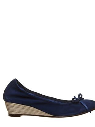 Bisue Zapatos Cuña (azul marino)