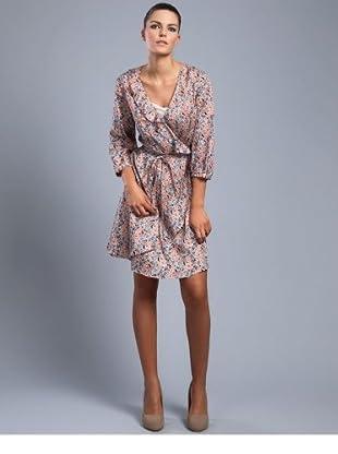 Cortefiel Vestido Tweed Volantes (Multicolor)
