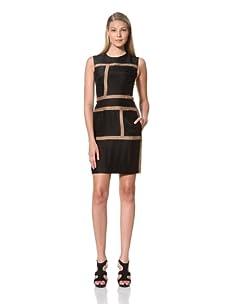 MARTIN GRANT Women's Rectangle Dress (Black/Mocha)