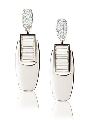 Judith Leiber Crystal Deco Earrings