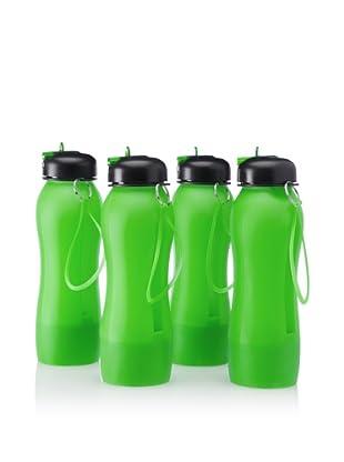 AdNArt Set of 4 Music-on-the-Go Beat Bottles, Green, 18-Oz.