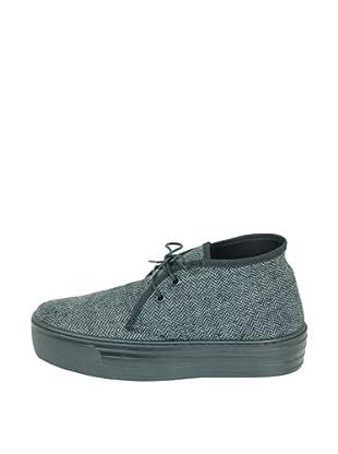 Za-patitos Zapatos Creepers Textil (Gris)