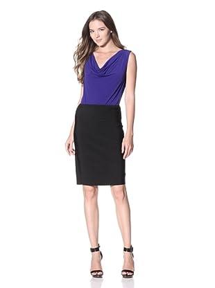 Calvin Klein Women's Cowlneck Sleeveless Top (Byzantine)