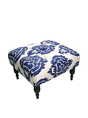 Skyline Furniture Tufted Ottoman, Diamond Blue