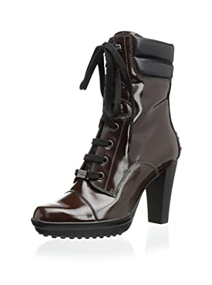 Tod's Women's Patent Laced Boot (Brown)
