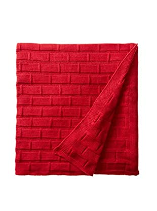 Nomadic Thread Society Peruvian Cotton Blanket, Red
