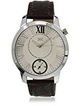 KILLER Silver Dial Analogue Watch for Men (KLW237A_New1)