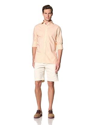 Bobby Jones Men's Mini Gingham Check Spread Collar Shirt (Tangerine)