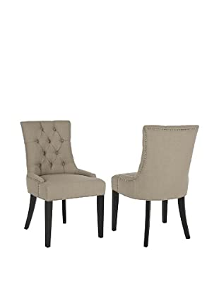 Safavieh Set of 2 Ashley Kd Side Chairs, , True Taupe