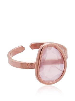 Silver Lux Anillo Dolce Cuarzo Rosa