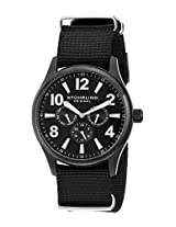 Stuhrling Original Men's 406.335OB1 Aviator Tuskegee Hawk Quartz Day and Date Black Watch