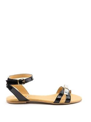 Misu Sandale Lazo (Schwarz/Weiß)