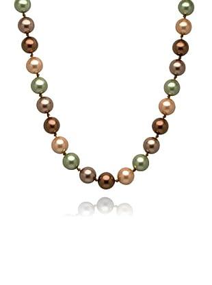 Perldor 60650049 - Collar de mujer de plata de ley con perla natural Bronce/Verde 45 cm