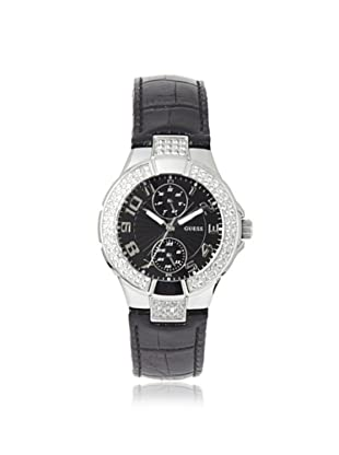 GUESS Women's W11607L2 Prism Black Stainless Steel and Leather Watch