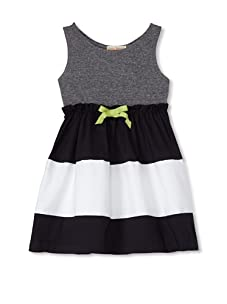 Upper School Girl's Sleeveless Dress with Bow (Navy/White/Grey)
