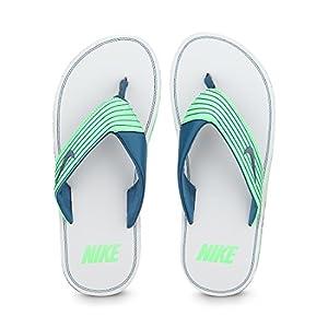 Aqua Green & Light Grey Chroma Thong Iii Flip Flops by Nike