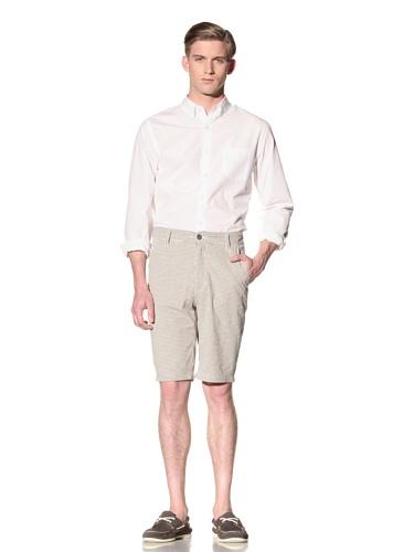Report Collection Men's Gingham Short (Tan)