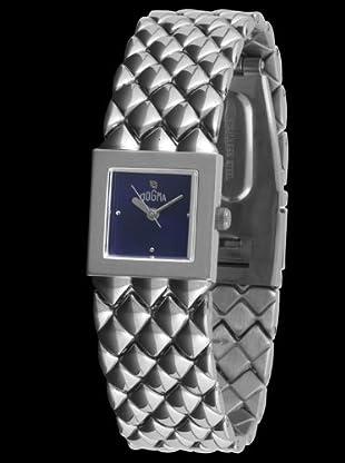 Dogma DL6104 - Reloj de Señora movimiento de quarzo con brazalete metálico plata / azul