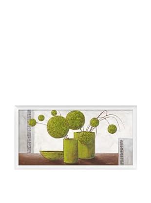 PlatinArt Cuadro Brimming Green Balloons 56 x 106