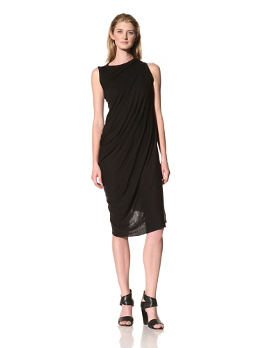 RICK OWENS Women's Side Drape Dress (Black)