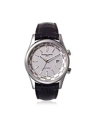 Frederique Constant Men's FC-255S6B6 Worldtimer Black Leather Watch
