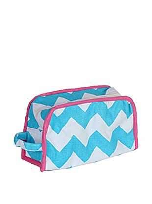 Malabar Bay Chevron Dopp Kit, Blue