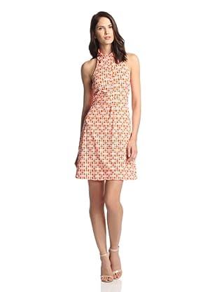 JB by Julie Brown Women's Adelie Halter Back Shirt Dress (Poppy Woodstock)