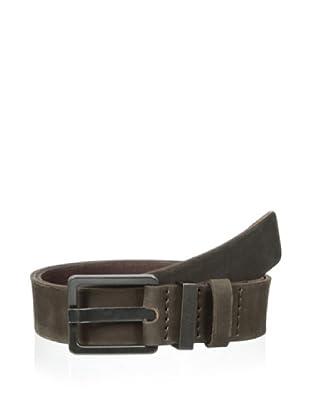 Calvin Klein Jeans Men's Logo Keeper Belt (Coffee)