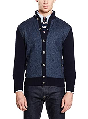 Hackett London Chaqueta Punto Lana Tweed Frt Cardi