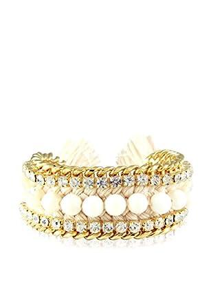 Ettika White Fossil & Beige Bodacious Bracelet