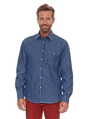 Cortefiel Camisa Estampado (Azul)