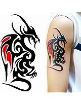 Dragon Tattoo Stickers Waterproof Temporary Sexy Arm Leg Tattoos Women Men
