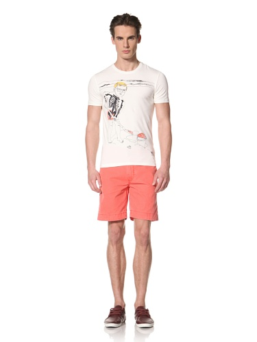 Antony Morato Men's Playing in the Sand Tee (Off white)
