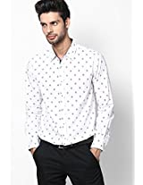 Printed White Casual Shirt