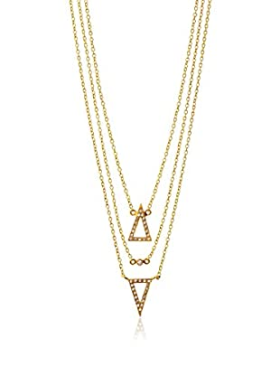 Kevia Triple Layer Cubic Zirconia Necklace