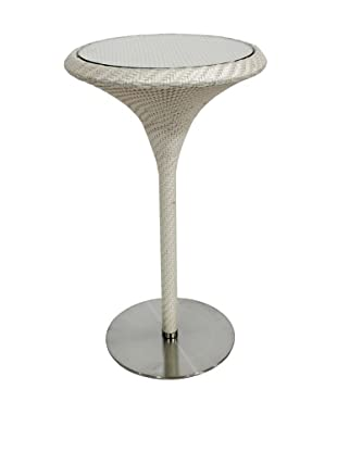 100 Essentials Party All-Weather Bar Table, Cream/Clay