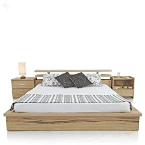 Bed Queen with Natural Finish - Norrwood Blonde