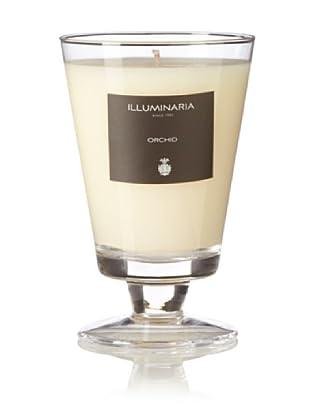 Illuminaria Wax Filled Vase Candle Jar, Clear Orchid, 8 Oz.