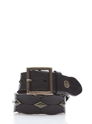 Trussardi Cinturón Adorno Metálico (negro)