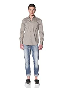 Antony Morato Men's Long Sleeve Woven Shirt (Fango)