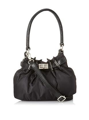 co-lab by Christopher Kon Women's Tori Mini Nylon Shoulder Bag with Cross-Body (Black)