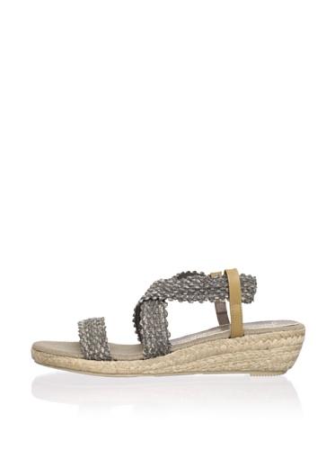 Jean-Michel Cazabat Women's Tiara Ankle-Strap Sandal (Smoke)