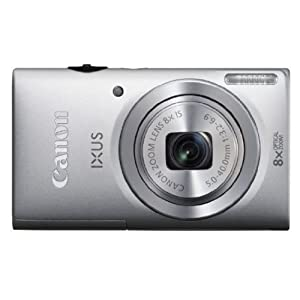 Canon IXUS 140 16MP Point-and-Shoot Digital Camera (Silver) with SD Card, Camera Case