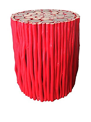 Asian Art Imports Red Stick Stool