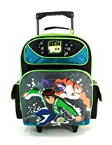 "16"" Ben 10 Large Rolling Backpack-tote-bag-school"