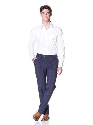 Lardini Men's Solid Trouser (Navy)