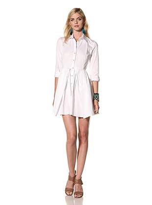 Thakoon Women's Long Sleeve Shirt Dress (White)