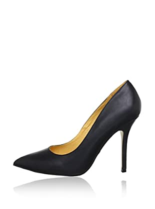 Buffalo London 112-1211 PROVA LEATHER 140841 - Zapatos de tacón de cuero  mujer (Negro)