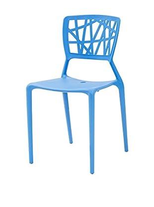 TUONI Stuhl 4er Set Zen blau