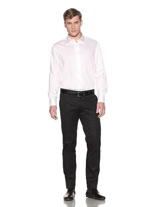 Valentino Men's Dress Shirt (White Diamond)